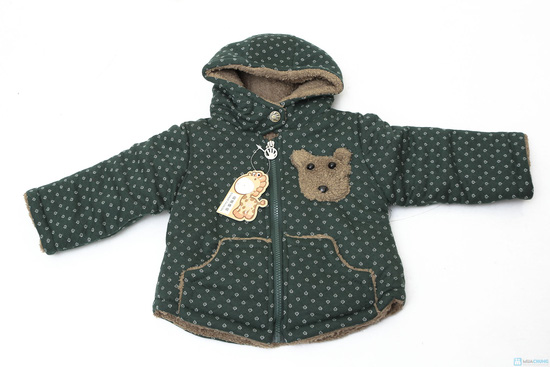 Áo khoác lông hình gấu dễ thương cho bé - 6