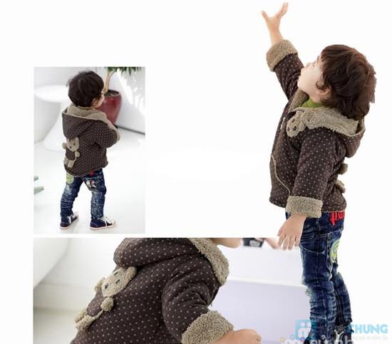 Áo khoác lông hình gấu dễ thương cho bé - 10