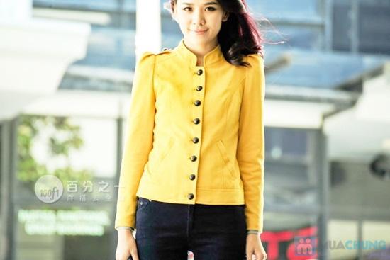 Áo khoác giả vest kaki vàng cá tính- Chỉ 150.000đ - 5
