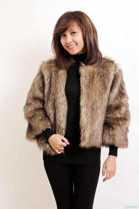 Áo khoác lông sang trọng phong cách Hàn Quốc - Chỉ với 320.000đ - 4