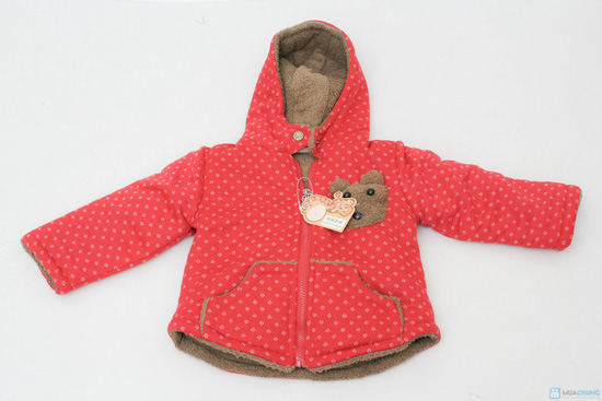 Áo khoác lông hình gấu dễ thương cho bé - 1