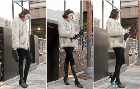 Áo khoác lông sang trọng phong cách Hàn Quốc - Chỉ với 320.000đ - 2