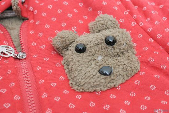 Áo khoác lông hình gấu dễ thương cho bé - 2