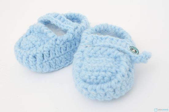Combo 3 đôi tất len handmade cho bé sơ sinh đến 9 tháng tuổi - 4