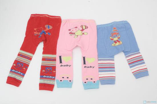 Combo 3 quần len trơn mông thú cho bé - 1