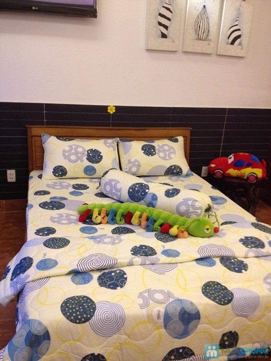 Cho giấc ngủ sâu với bộ Drap + Chăn + 02 vỏ gối nằm + 01 vỏ gối ôm cotton Thắng Lợi - Chỉ 590.000đ/01 bộ - 2