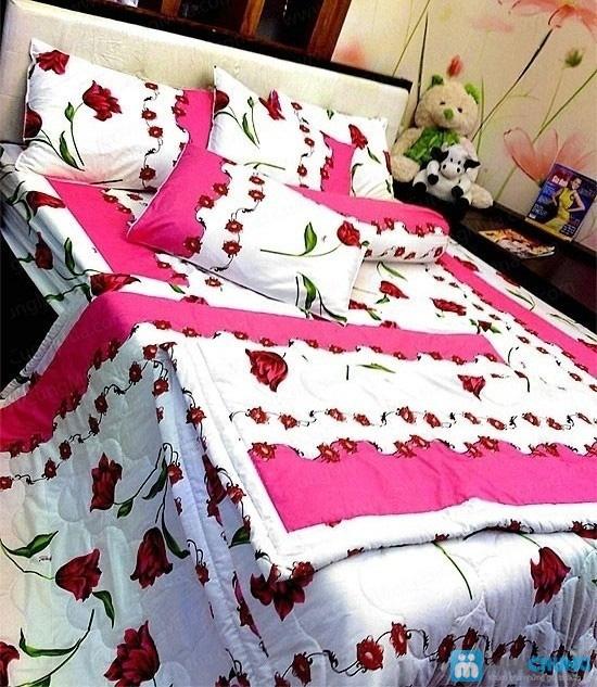 Cho giấc ngủ sâu với bộ Drap + Chăn + 02 vỏ gối nằm + 01 vỏ gối ôm cotton Thắng Lợi - Chỉ 590.000đ/01 bộ - 5