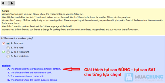 Thẻ học Toeic Online - Chỉ 99.000đ - 10