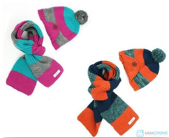Bộ khăn mũ len ấm áp cho bé yêu - 2