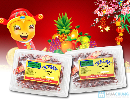 Khô bò sợi Châu Đốc thơm ngon - Chỉ 130.000đ/01 hộp - 1