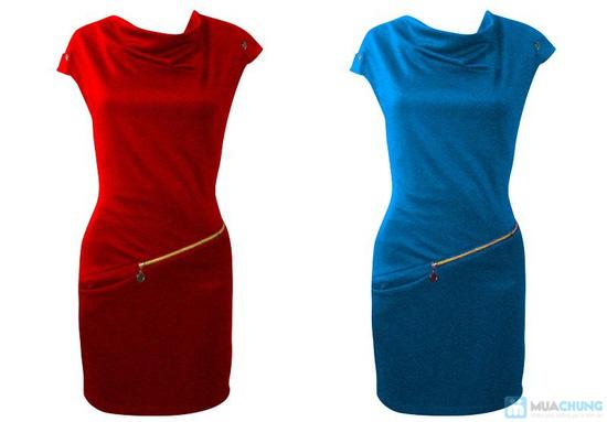 Đầm dây kéo cổ đỗ - Thật phong cách sành điệu - Chỉ 140.000đ/ 01 chiếc - 2