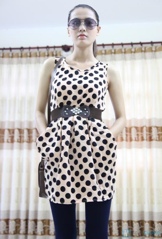 Đầm chấm bi 02 túi - Nữ tính cổ điển, thanh lịch hiện đại - Chỉ 80.000đ/chiếc - 3