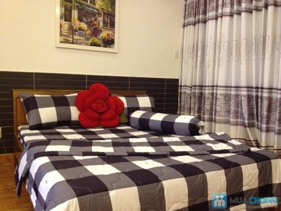 Cho giấc ngủ sâu với bộ Drap + Chăn + 02 vỏ gối nằm + 01 vỏ gối ôm cotton Thắng Lợi - Chỉ 590.000đ/01 bộ - 4