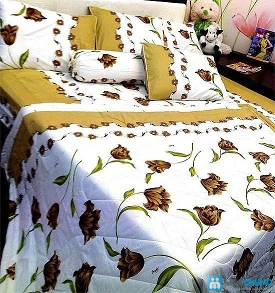 Cho giấc ngủ sâu với bộ Drap + Chăn + 02 vỏ gối nằm + 01 vỏ gối ôm cotton Thắng Lợi - Chỉ 590.000đ/01 bộ - 3