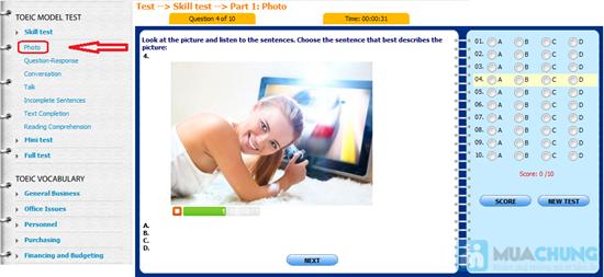 Thẻ học Toeic Online - Chỉ 99.000đ - 8