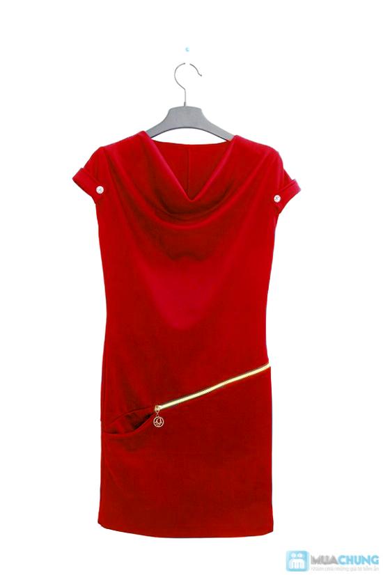 Đầm dây kéo cổ đỗ - Thật phong cách sành điệu - Chỉ 140.000đ/ 01 chiếc - 1