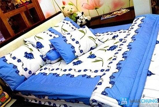 Cho giấc ngủ sâu với bộ Drap + Chăn + 02 vỏ gối nằm + 01 vỏ gối ôm cotton Thắng Lợi - Chỉ 590.000đ/01 bộ - 6