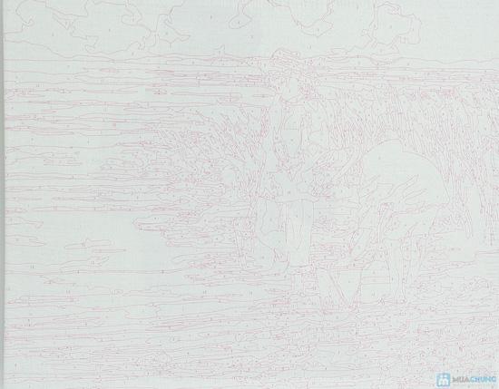 Tranh tô màu theo số kích thước 40x50 - Giúp người lớn thư giãn và hình thành óc sáng tạo cho bé - 2