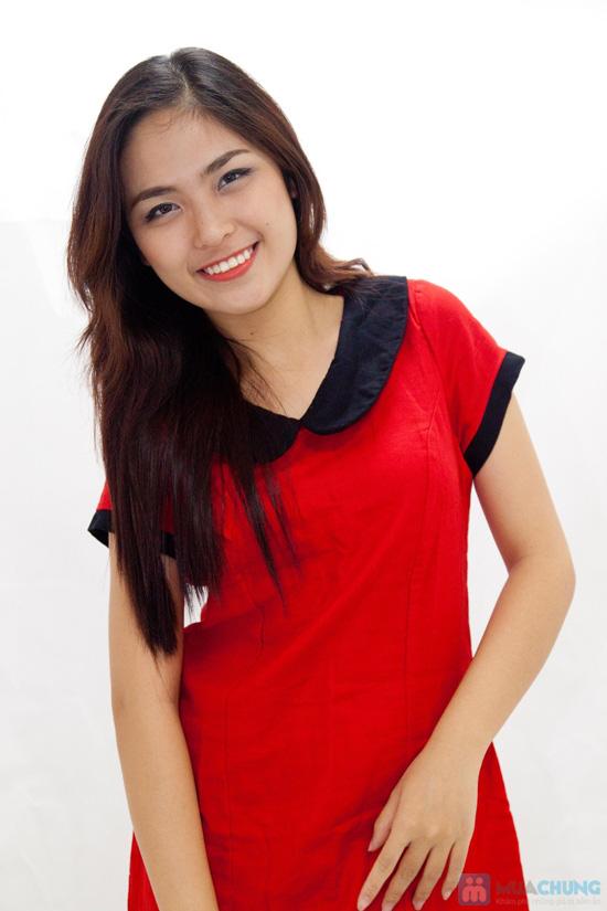 Đầm suông cổ sen nữ tính - Rạng rỡ sắc xuân - Chỉ 145.000đ/chiếc - 3