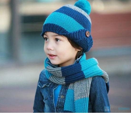 Bộ khăn mũ len ấm áp cho bé yêu - 1