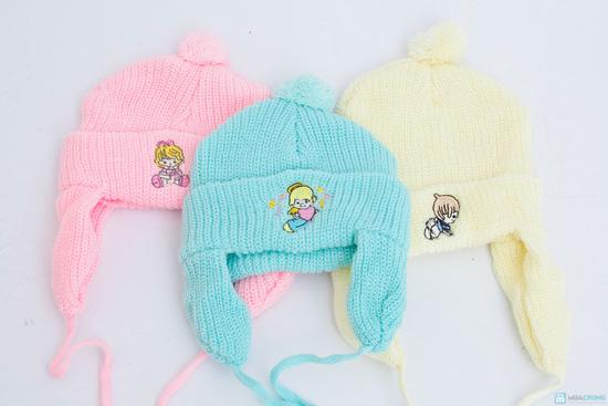 Combo 3 Mũ len che tai cho bé sơ sinh - 9 tháng tuổi - 1