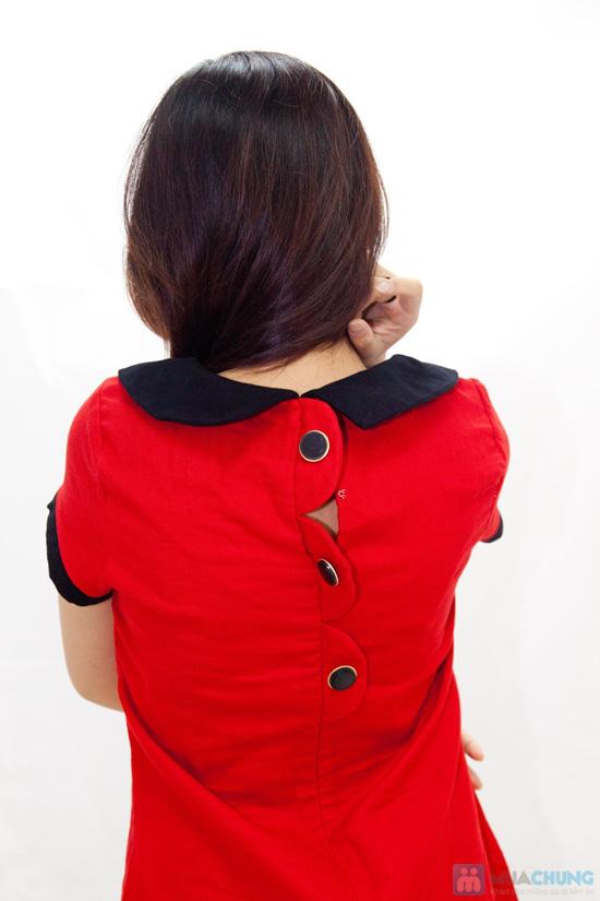 Đầm suông cổ sen nữ tính - Rạng rỡ sắc xuân - Chỉ 145.000đ/chiếc - 5