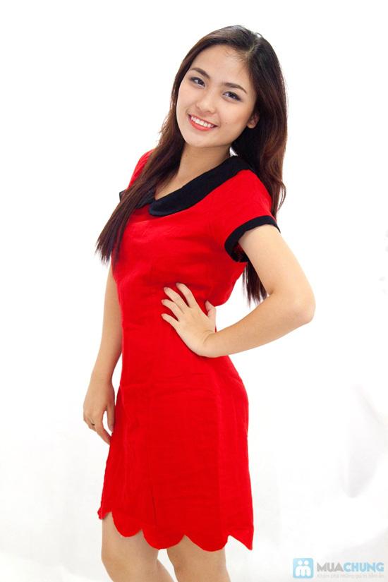 Đầm suông cổ sen nữ tính - Rạng rỡ sắc xuân - Chỉ 145.000đ/chiếc - 2