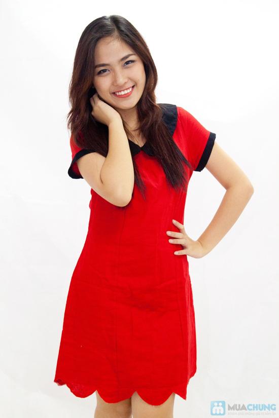 Đầm suông cổ sen nữ tính - Rạng rỡ sắc xuân - Chỉ 145.000đ/chiếc - 1