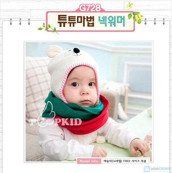 Combo 3 Mũ len che tai cho bé sơ sinh - 9 tháng tuổi - 9