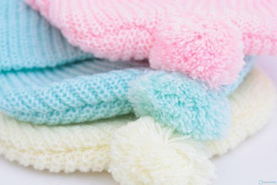 Combo 3 Mũ len che tai cho bé sơ sinh - 9 tháng tuổi - 6