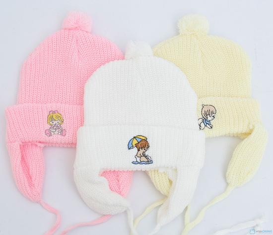 Combo 3 Mũ len che tai cho bé sơ sinh - 9 tháng tuổi - 7