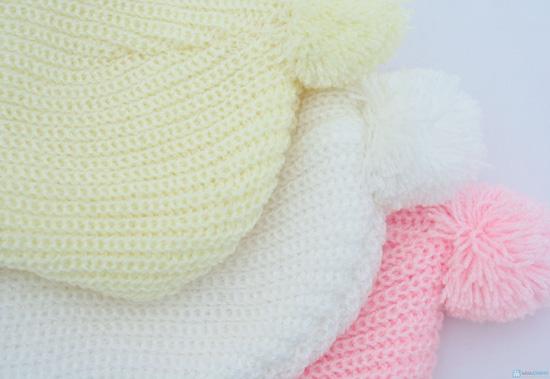 Combo 3 Mũ len che tai cho bé sơ sinh - 9 tháng tuổi - 8