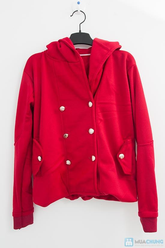Áo khoác cài nút màu đỏ - Cho bạn gái xúng xính du xuân- Chỉ 115.000đ/01 chiếc - 6