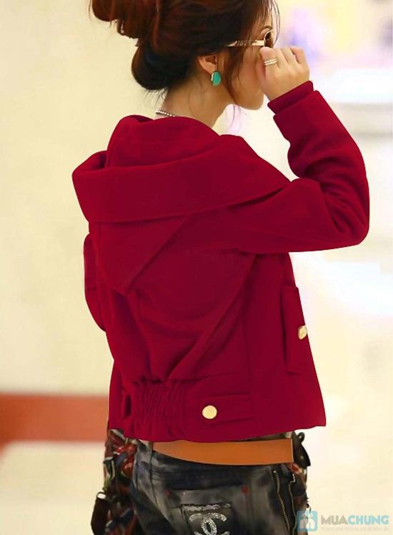 Áo khoác cài nút màu đỏ - Cho bạn gái xúng xính du xuân- Chỉ 115.000đ/01 chiếc - 4