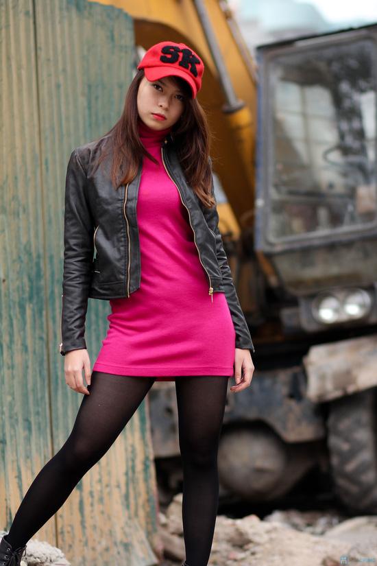 Áo khoác da nữ dáng body ngắn thời trang - 3