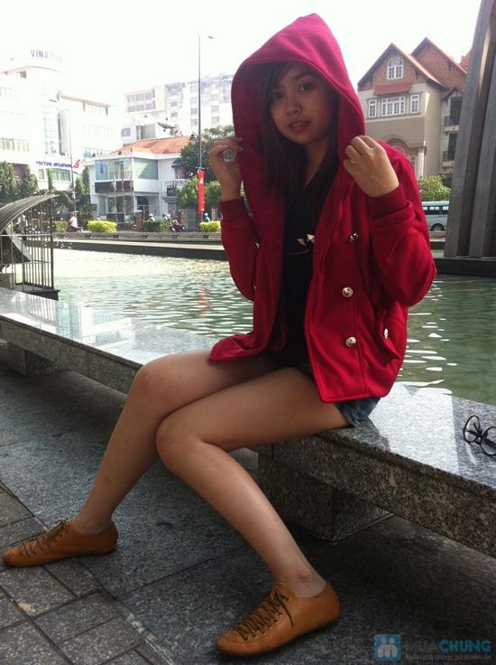 Áo khoác cài nút màu đỏ - Cho bạn gái xúng xính du xuân- Chỉ 115.000đ/01 chiếc - 3