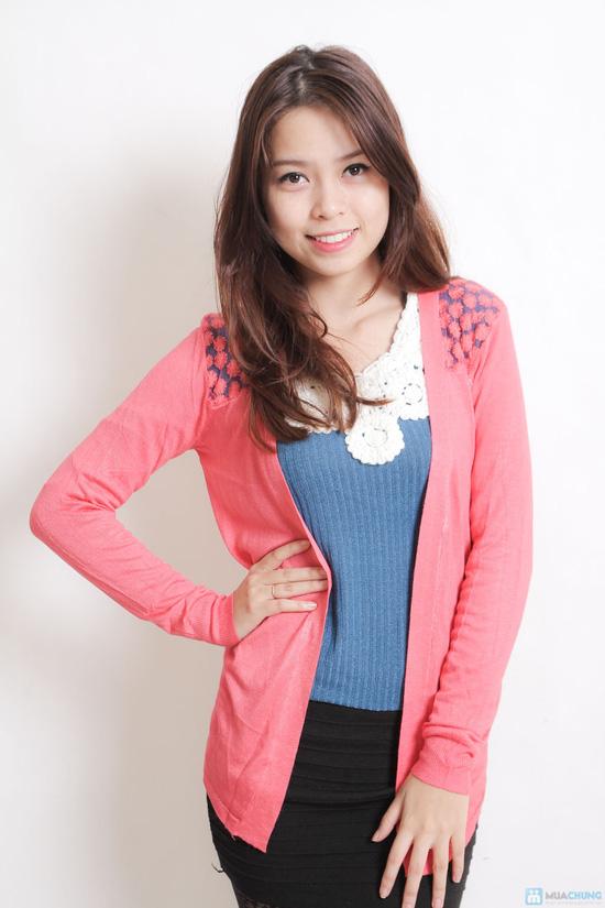 Ao khoac len ren hoa 1 số phong cách áo khoác nữ bắt mắt cho bạn nữ