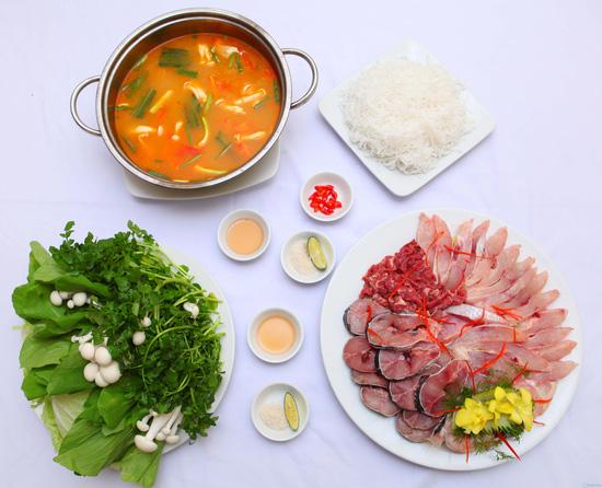 Set ăn lẩu cá quả, cá diêu hồng - 5