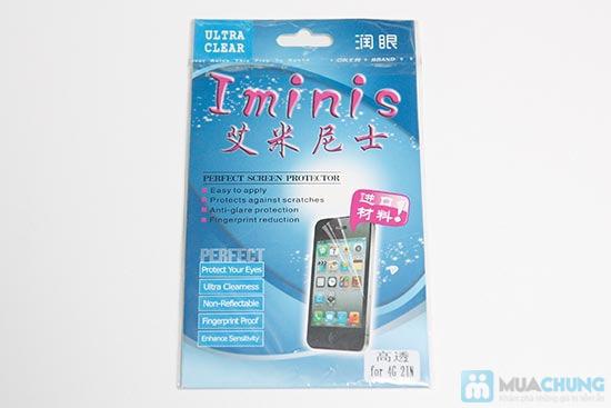 Bao da + Miếng dán màn hình cho iPhone 4 - 5