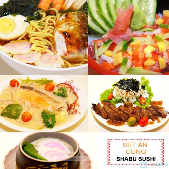 Chọn 01 trong 05 set ăn trưa kiểu Nhật tại NH Shabu Sushi - Chỉ 75.000đ - 1