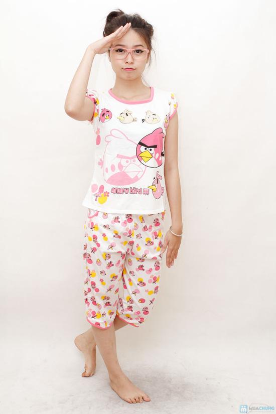Combo 2 bộ đồ ngủ hoạt hình hoặc chấm bi cho bạn gái - 12