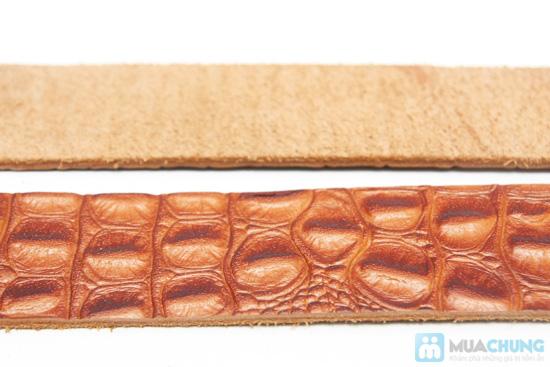 Thắt lưng nam da bò - vân cá sấu sang trọng - 7