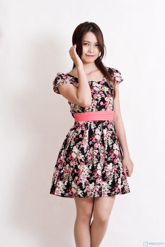 Váy hoa dịu dàng xếp ly - 6