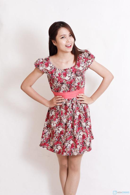 Váy hoa dịu dàng xếp ly - 4