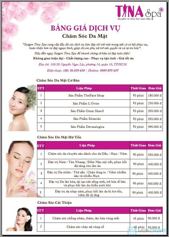 Gói 4 Dịch vụ: Massage body + vai + cổ + đầu tại Saigon Tina Spa - Chỉ 55.000đ - 1