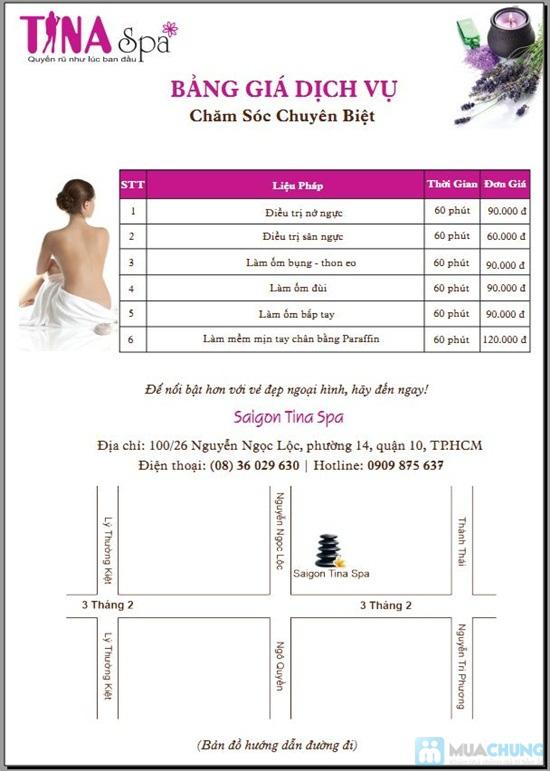 Gói 4 Dịch vụ: Massage body + vai + cổ + đầu tại Saigon Tina Spa - Chỉ 55.000đ - 3