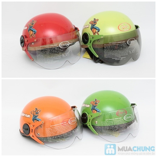 Mũ bảo hiểm trẻ em có kính chính hãng CHITA - CT27 - 2