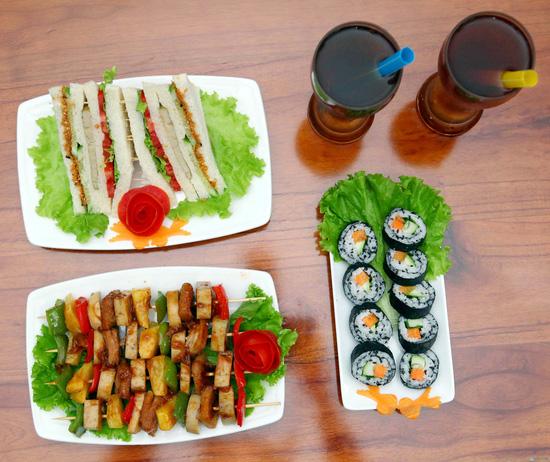 Sandwich sushi chay cho 2 người - 7