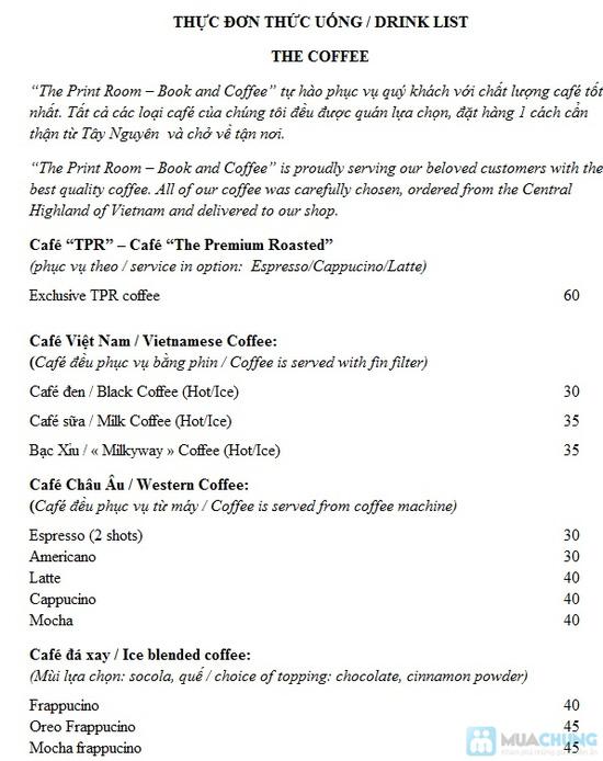 Phiếu thưởng thức nước uống, đọc sách THE PRINT ROOM - CAFE AND - Chỉ 44.000đ được phiếu trị giá 80.000đ - 1