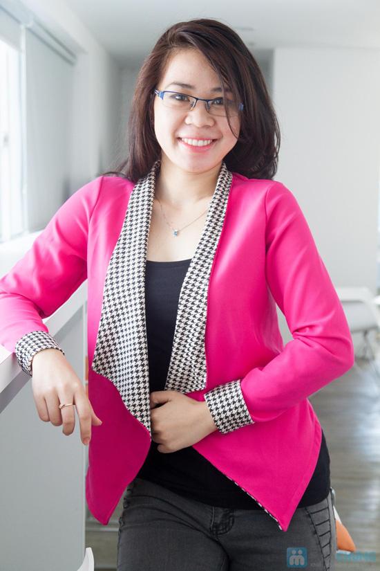 Áo vest cổ zích zắc, kiểu dáng dễ thương, màu sắc trang nhã - Chỉ 115.000đ - 5